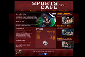 Website Design Website Development - Sports Cafe