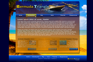Website Design Website Development - Bermuda Triangle Info Project