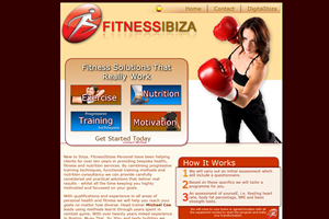 Website Design Website Development - Ibiza Fitness Project